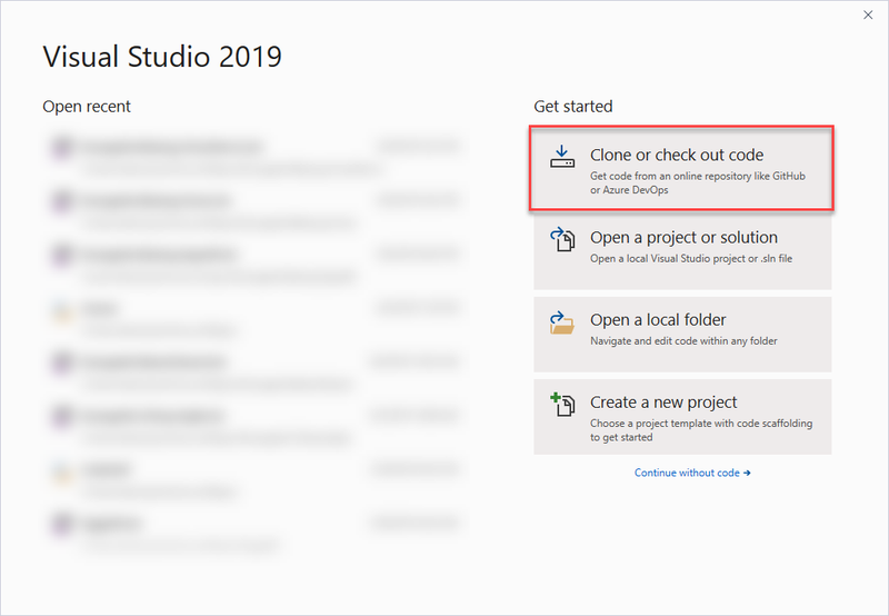 Visual Studio 2019 workflow