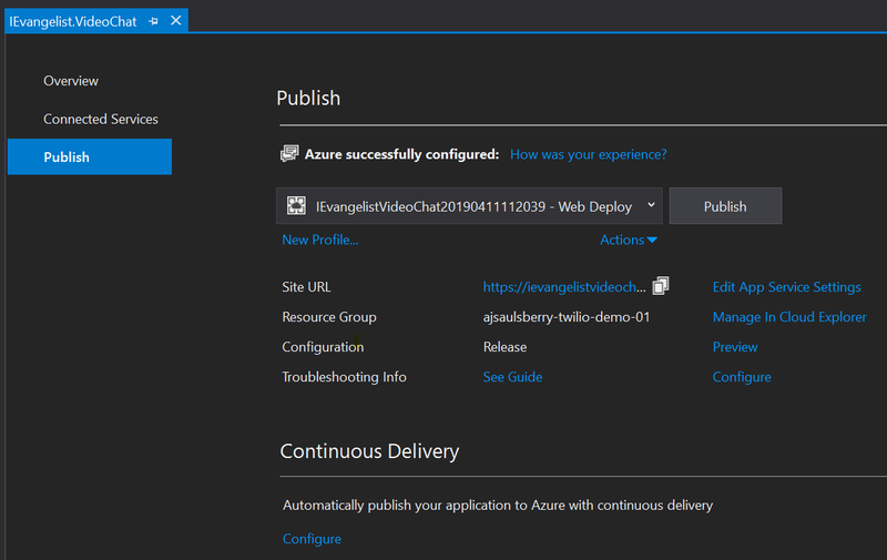 Azure configuration