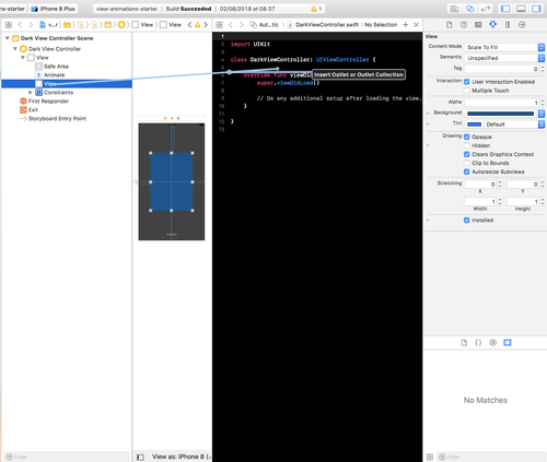Animating View Properties in Xcode with Swift 4 and Auto