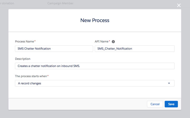 New Process for SMS Chatter notifications with Twilio for Salesforce