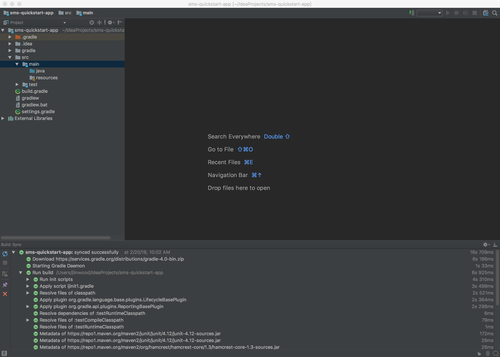 IntelliJ IDEA Project Created