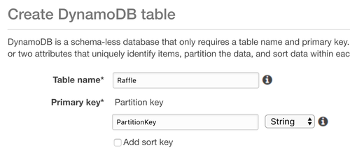 Create a DynamoDB Table