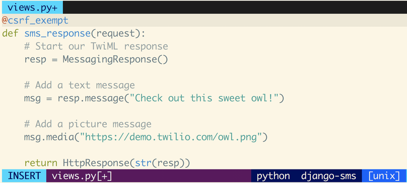 How to Receive and Respond to Text Messages in Python with Django