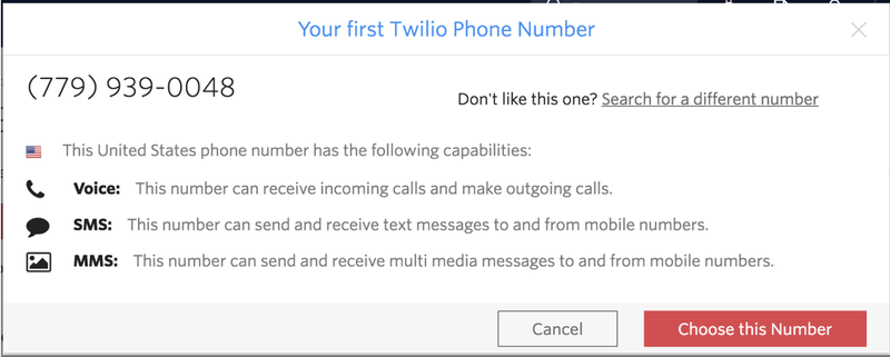 Your First Twilio Phone Number with capabilities