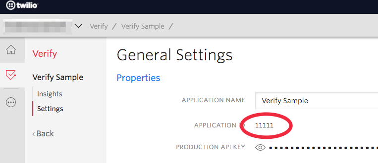 Verify Application ID