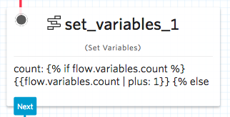 Set Variables Widget