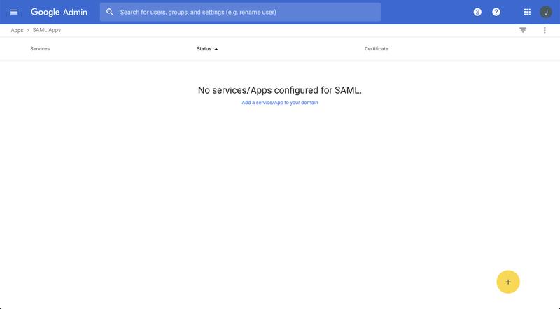 Google SAML App Add