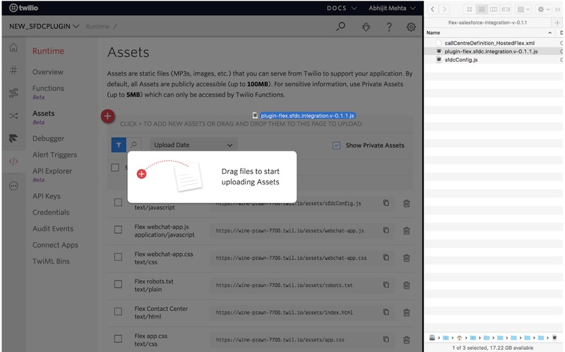 Flex assets: Import the Flex-Salesforce integration file.