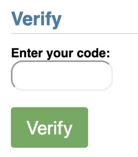 verification entry form