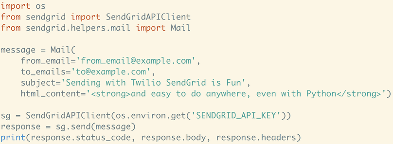 How to Send Emails in Python with Sendgrid - Twilio