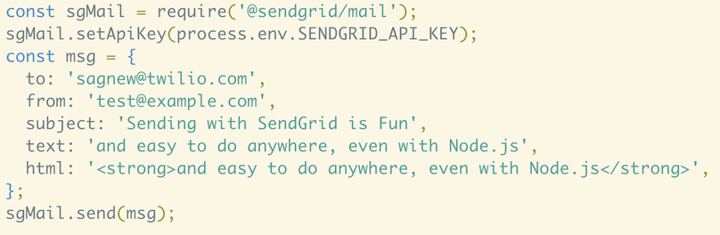 Send Emails with Node