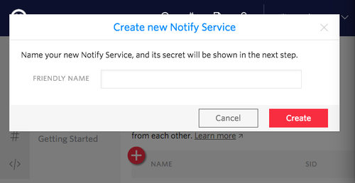 Create New Notify Service
