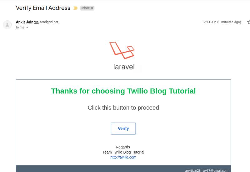 How to Queue Emails in Laravel PHP with Twilio SendGrid - Twilio