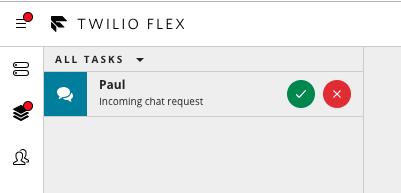 Accept a Flex chat session