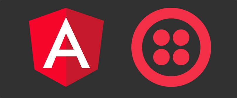 Angular and Twilio logos