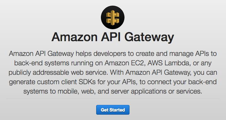 API Gateway Get Started