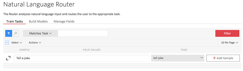 Add samples to your assistant's task via the Autopilot console