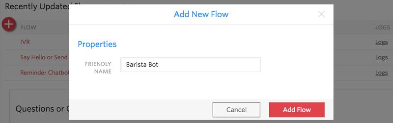 Barista BotのFlow