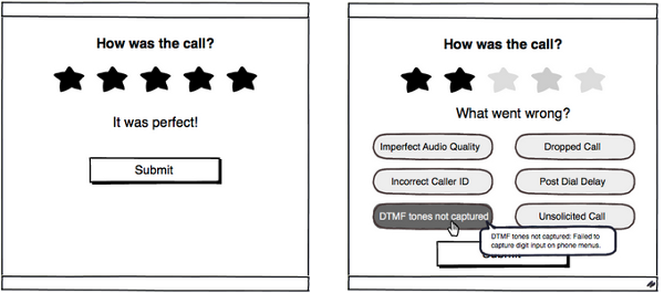 Possible UI for collecting call quality feedback