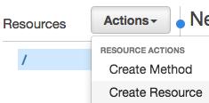 新規Resource API Gatewayの作成