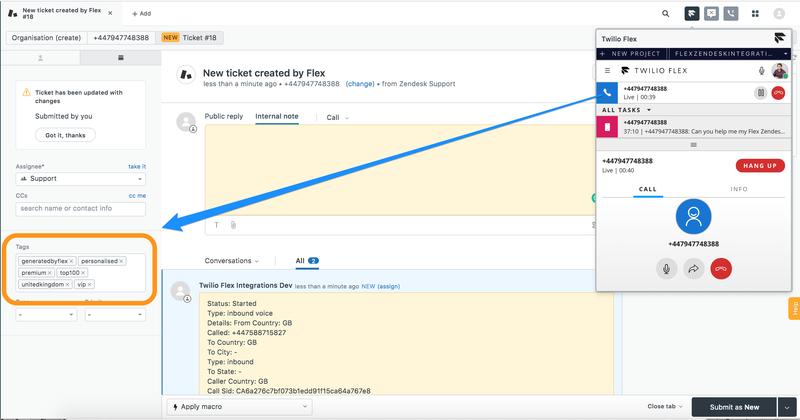 Manage Flex-Zendesk Call Flows - Twilio