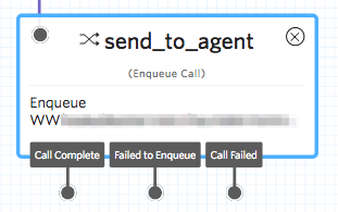 Enqueue Call Widget