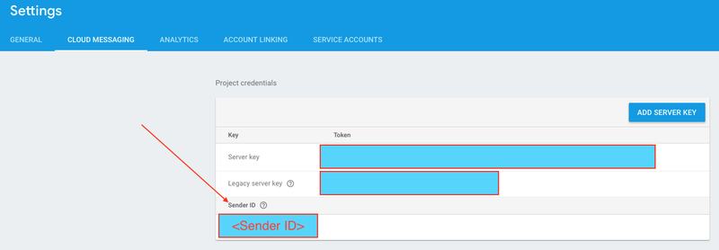 Firebase Settings Cloud Messaging Sender Id