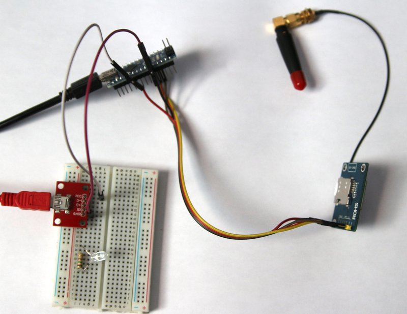 Programmable Wireless: Arduino and Sim800 Cellular Machine