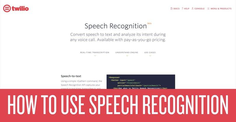 How to Use Twilio Speech Recognition - Twilio