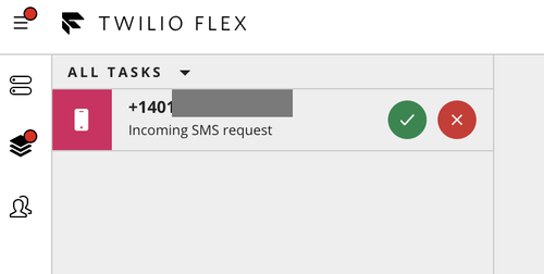 Incoming SMS request in Flex