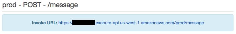 API GatewayでURLを呼び出す