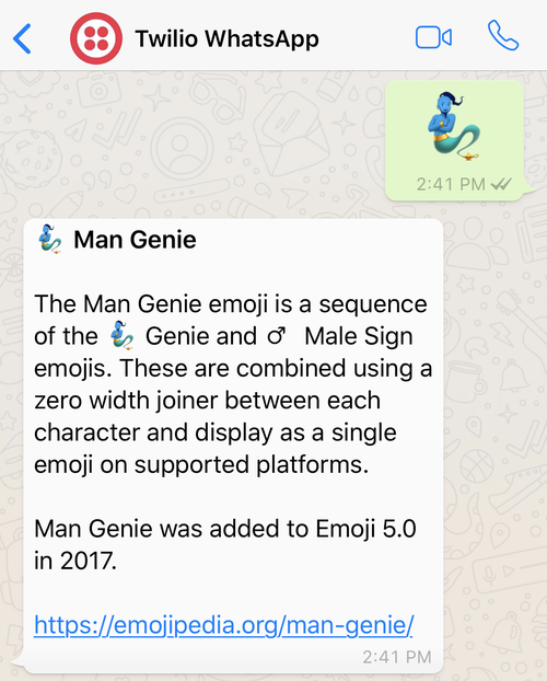 Build an Emojidex with Python and the Twilio WhatsApp API - Twilio