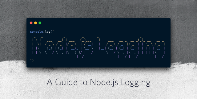 """Decorative header image """"A guide to Node.js logging"""""""