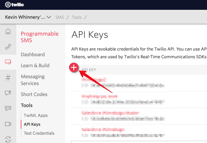 Create API keys