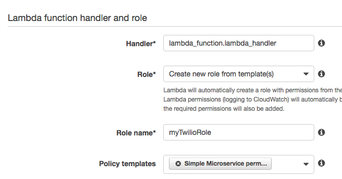 Lambda Policy and Role Definition