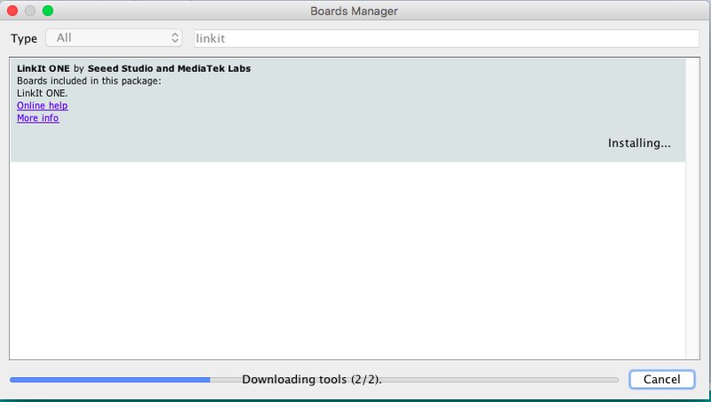 Boards Manager LinkIt