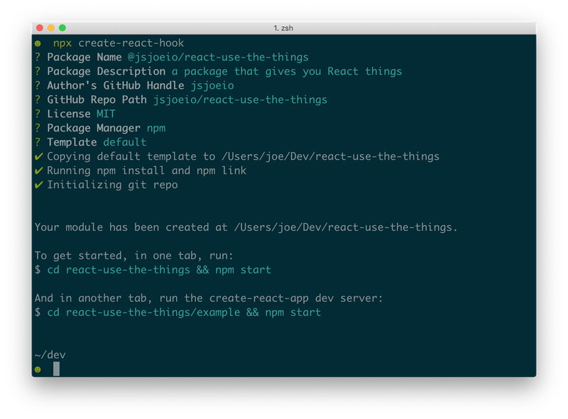 Populating package information for npm