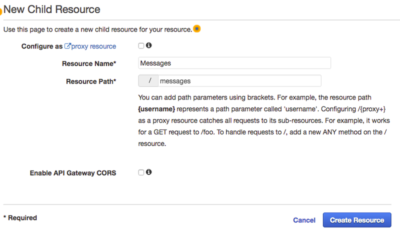 AWS New Child Resource