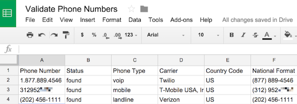 Look Up A Number >> How To Validate And Look Up Phone Numbers In Google Spreadsheets