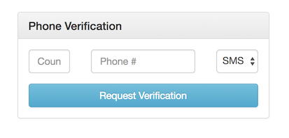 Phone Verification by SMS or Voice