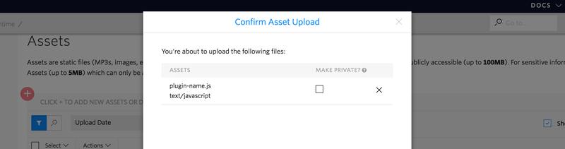 Drag plugin to assets