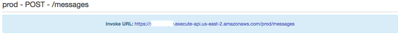 Invoke URL API Gateway