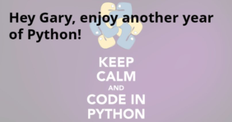 Never Forget A Friend's Birthday with Python, Flask and