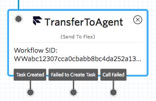 Send to Flex widget
