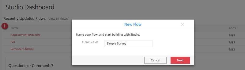 Simple Survey flow