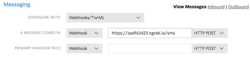 Configure webhook URL