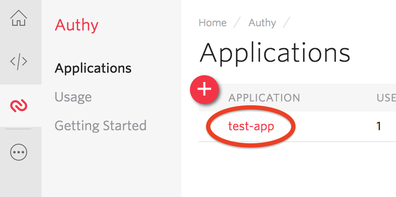 Find your Authy app_id - Step 2