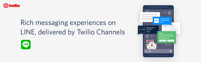 Twilio now supports LINE, adding to the number of channels