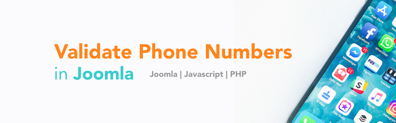 How to Validate a Phone Number in a Joomla Extension - Twilio