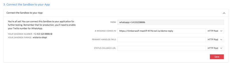 Twilio API for WhatsApp - Twilio